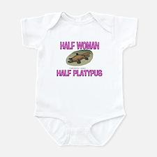 Half Woman Half Platypus Infant Bodysuit
