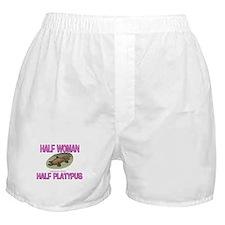 Half Woman Half Platypus Boxer Shorts