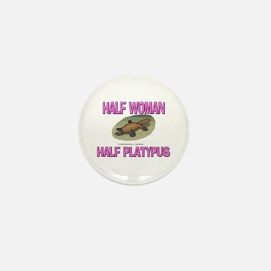 Half Woman Half Platypus Mini Button