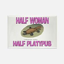 Half Woman Half Platypus Rectangle Magnet