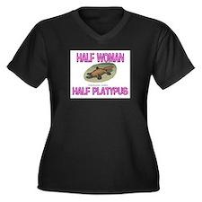 Half Woman Half Platypus Women's Plus Size V-Neck
