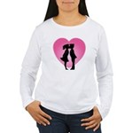 Couple Kissing Women's Long Sleeve T-Shirt