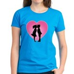 Couple Kissing Women's Dark T-Shirt