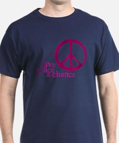 Give Peace a Chance - Pink T-Shirt