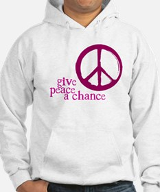 Give Peace a Chance - Pink Hoodie