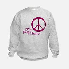 Give Peace a Chance - Pink Sweatshirt
