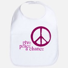 Give Peace a Chance - Pink Bib