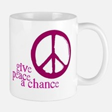 Give Peace a Chance - Pink Mug
