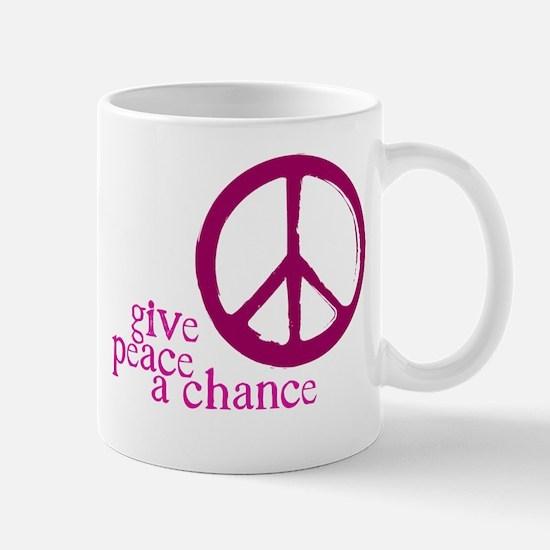 Give Peace a Chance - Pink Mug