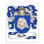 Barbe Family Crest Small Poster