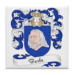Barbe Family Crest Tile Coaster