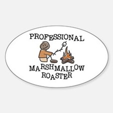 Professional Marshmallow Roaster Sticker (Oval)