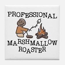 Professional Marshmallow Roaster Tile Coaster