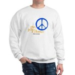 Give Peace a Chance - Blue & Orange Sweatshirt