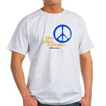Give Peace a Chance - Blue & Orange Light T-Shirt