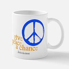 Give Peace a Chance - Blue & Orange Mug