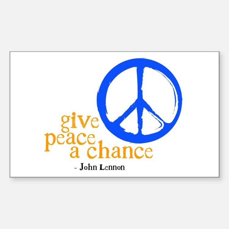 Give Peace a Chance - Blue & Orange Decal