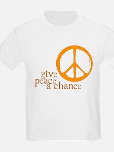 Give Peace a Chance - Orange T-Shirt