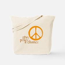 Give Peace a Chance - Orange Tote Bag