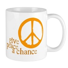 Give Peace a Chance - Orange Mug