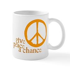 Give Peace a Chance - Orange Mug