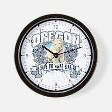 Polar Bear Oregon Wall Clock
