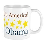 Wake Up America. Elect Obama - Coffee Mug