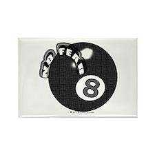 No Fear 8 Ball Rectangle Magnet