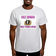 Half Woman Half Panda Bear T-Shirt