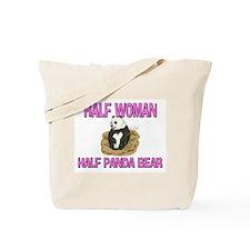 Half Woman Half Panda Bear Tote Bag