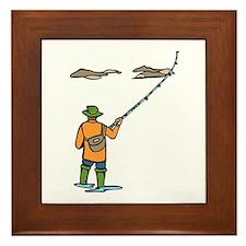 Fly Fishing Framed Tile