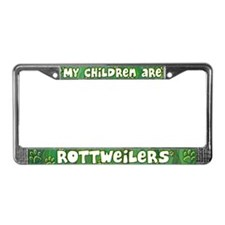 My Children Rottweiler License Plate Frame