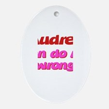 Audrey Can Do No Wrong Oval Ornament