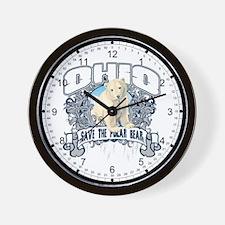 Polar Bear Ohio Wall Clock