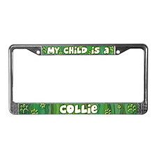 My Kid Collie License Plate Frame