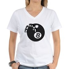No Fear 8 Ball Women's V-Neck T-Shirt