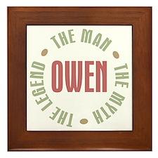 Owen Man Myth Legend Framed Tile