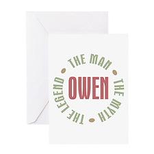 Owen Man Myth Legend Greeting Card