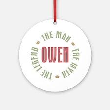 Owen Man Myth Legend Ornament (Round)