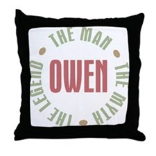 Owen Man Myth Legend Throw Pillow