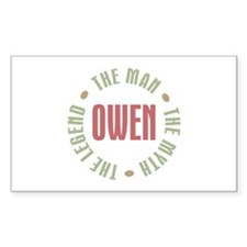 Owen Man Myth Legend Rectangle Decal