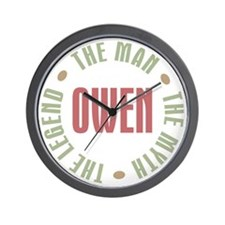 Owen Man Myth Legend Wall Clock