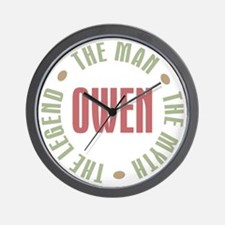 Owen Man Myth Legend Wall Clock