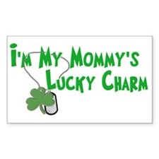 Mommy's Lucky Charm Rectangle Decal