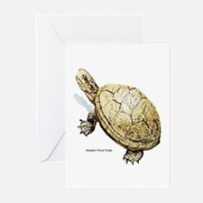 Western Pond Turtle Greeting Cards (Pk of 10)