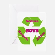 Cute Recycle men Greeting Card