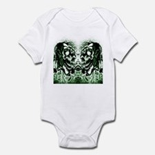 Skull Twins Green Infant Bodysuit