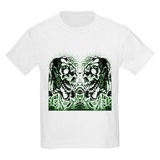 Skull Twins Green T-Shirt