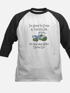 Cute Tractor Like My Grandpa Kids Baseball Jersey