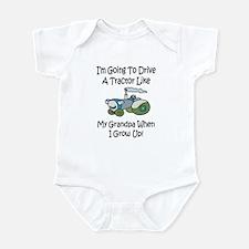 Cute Tractor Like My Grandpa Infant Bodysuit